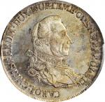 GERMANY. Wurttemberg-Oels. Taler, 1785-B. Breslau (Wroclaw) Mint. Karl Christian Erdmann. PCGS MS-64