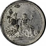 1826 Erie Canal Completion. White Metal. 45 mm. HK-1. Rarity-6. About Uncirculated.