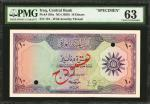 IRAQ. Central Bank of Iraq. 10 Dinars, ND (1959). P-55bs. Specimen. PMG Choice Uncirculated 63.