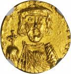CONSTANTINE IV, 668-685. AV Solidus (3.68 gms), Syracuse Mint, ca. 677-678. NGC Ch AU, Strike: 4/5 S