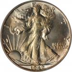 1942-S Walking Liberty Half Dollar. MS-64 (PCGS). OGH.