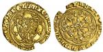Richard II (1377-99), Quarter-Noble, type 3a, 1.72g, mm. cross patt馥, ricard dei gra rex angl, doubl