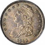 1836 Capped Bust Half Dollar. Lettered Edge. O-113. Rarity-2. MS-64 (PCGS).
