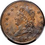 1808 Classic Head Cent. S-278. Rarity-3. MS-63 BN (PCGS).