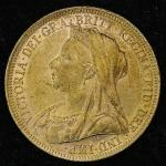 GREAT BRITAIN Victoria ヴィクトリア(1837~1901) Sovereign 1896 -EF