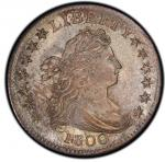 1800 Draped Bust Dime. John Reich-2. Rarity-5. Mint State-65 (PCGS).PCGS Population: 1, 1 finer (MS-