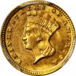 1859-D Gold Dollar. MS-64 (PCGS).