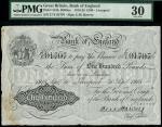 Bank of England, Ernest Musgrave Harvey (1918-1925), 100, Liverpool, 30 September 1918, serial numbe