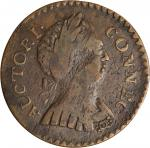 1786 Connecticut Copper. Miller 2.1-A, W-2465. Rarity-3. Mailed Bust Right, Round Head. VF-30 (PCGS)