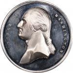 Circa 1876 Memory of Washington medal by Smith and Hartmann. Musante GW-211, Baker-422. White Metal.