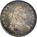 1806 Draped Bust Half Dollar. O-123. Rarity-6. Pointed 6, Stem Through Claw. MS-64 (PCGS).