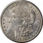 1921-S Morgan Silver Dollar. MS-64 (PCGS). OGH--First Generation.