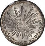 墨西哥。瓜纳华托。 1875年8雷阿尔。