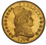 1796/5 Capped Bust Right Half Eagle. Bass Dannreuther-1. Rarity-4+. Mint State-62+ (PCGS).
