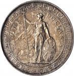 1895-B年英国贸易银元站洋一圆银币孟买铸币厂维多利亚 GREAT BRITAIN. Trade Dollar, 1895-B. Bombay Mint. Victoria. PCGS AU-58
