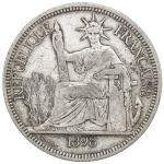 CHOPMARKED COINS: FRENCH INDOCHINA: AR piastre, 1887, KM-5a.1, large Chinese merchant assay chopmark