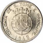 SAINT THOMAS & PRINCE. 50 Centavos, 1948. PCGS MS-66 Gold Shield.