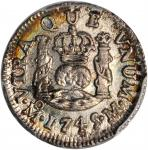 MEXICO. 1/2 Reales, 1745-MoM. Mexico City Mint. PCGS-66 Secure Holder.