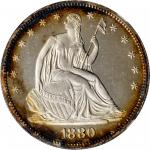 1880 Liberty Seated Half Dollar. WB-102. Type II Reverse. Proof-65 Cameo (NGC).