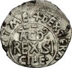 Monete e Medaglie di Zecche Italiane, Palermo.  Tancredi (1189-1194).. Medalea o mezzo tercenario. S