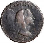 1793 Liberty Cap Cent. S-14. Rarity-5-. VF Details--Scratch (PCGS).