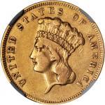 1856-S Three-Dollar Gold Piece. EF-40 (NGC).