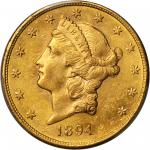1894-S Liberty Head Double Eagle. AU-58 (PCGS).