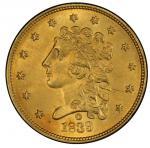 1839-O Classic Head Quarter Eagle. McCloskey-2. Winter-1. Mint State-65 (PCGS).