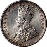 1919-C印度卢比银币,PCGS MS64