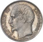FRANCE Second Empire / Napoléon III (1852-1870). 1 franc tête nue, grosse tête 1853, A, Paris.