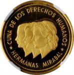 DOMINICAN REPUBLIC. Goldine 100 Pesos (00 Pesos) Pattern, 1983. NGC PROOF-69 Ultra Cameo.