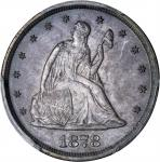 1878 Twenty-Cent Piece. Proof-64 (PCGS).