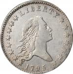 1795 Flowing Hair Half Dollar. O-123, T-6. Rarity-7. Two Leaves. EF Details--Cleaned (PCGS).