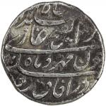 MUGHAL: Jahandar, 1712-1713, AR rupee 4011。28g41, Kashmir, year one 40ahad41, KM-363。26, some light