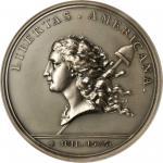 1776-1976 Libertas Americana Medal. Paris Mint Restrike. Silver. 76 mm. MS-64 (PCGS).