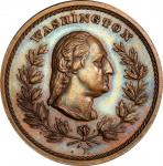 Circa 1860s Hero of American Independence medal by Joseph Merriam. Musante GW-684, Baker-88A. Copper