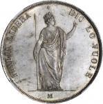ITALY. Lombardy-Venetia. 5 Lire, 1848-M. NGC MS-66.