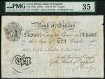 Bank of England, Matthew Marshall (1835-1864), 」10, London 8 November 1858, serial number Y/F 12587,