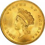 1854 Gold Dollar. Type II. MS-66+ (PCGS). CAC.