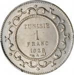 TUNISIA. Copper Nickel Franc Essai (Pattern), 1928-A. Paris Mint. PCGS SPECIMEN-65 Gold Shield.