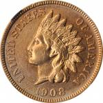 1908-S Indian Cent. AU Details--Cleaned (NGC).