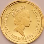 オーストラリア (Australia) ナゲット金貨4種揃プルーフセット 1987年 KMPS52 / Australian Nugget Gold 4-Coin Proof Set