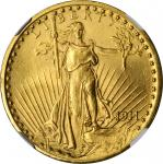1911 Saint-Gaudens Double Eagle. MS-63 (NGC).