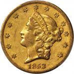 1853-O Liberty Head Double Eagle. EF-45 (PCGS). CAC.