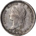 COLOMBIA. 1871 Peso. Medellín mint. Restrepo 318.5. AU Detail — Filed Rims (PCGS).