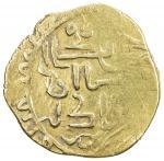 GREAT MONGOLS: Möngke, 1251-1260, AV dinar (3.46g), Herat, ND, A-V1977, legends mongkââ (sic) / qa a