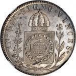 BRAZIL. 960 Reis, 1832-R. NGC MS-65.