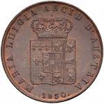 Italian coins;PARMA Maria Luigia (1815-1847) 5 Centesimi 1830 - CU (g 10.00) Splendido esemplare in