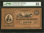 COLOMBIA. Banco de Panama. 10 Pesos, ND (ca. 1869). P-S723. PMG Choice Very Fine 35.