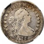 1796 Draped Bust Quarter. B-2. Rarity-3. Fine-12 (NGC).